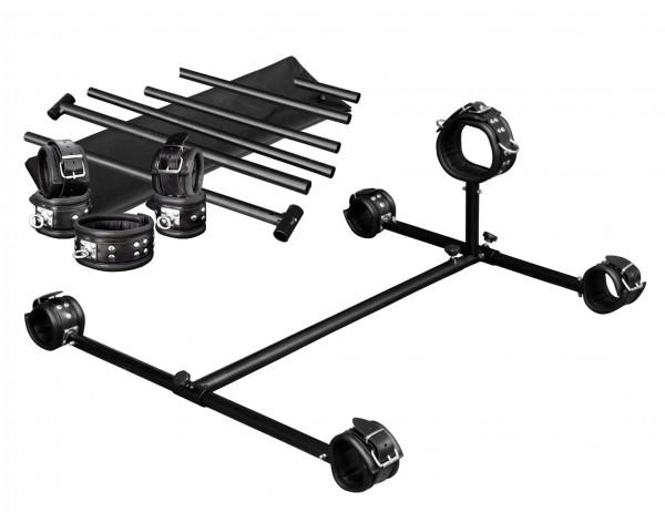 Metallpranger mit Hals/Hand/Fußfesseln Drehring 360°