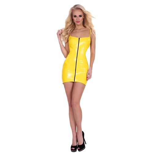 GP Datex Kleid mit Reißverschluss vorne - gelb