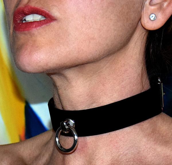 Abschließbares Halsband, Büffelleder