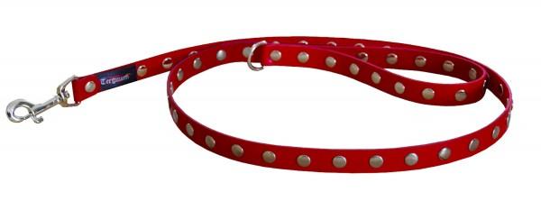 TERGINUM Führleine Hundeleine mit Nieten und D-Ring