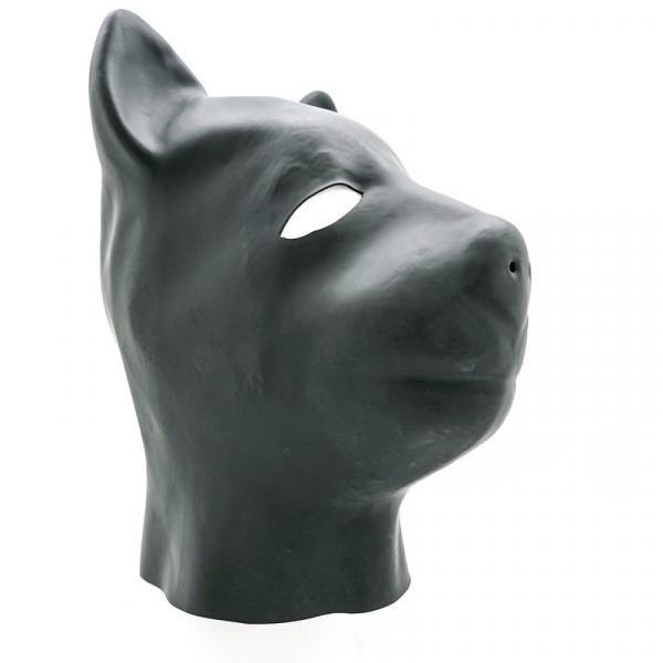 Fetisch Latex Maske Kopfmaske DOGGY schwarz