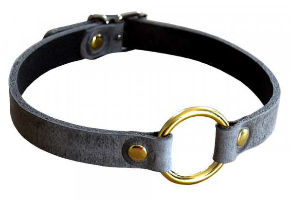 Terginum Grey Collection / Schmuck-Halsband mit Rundring