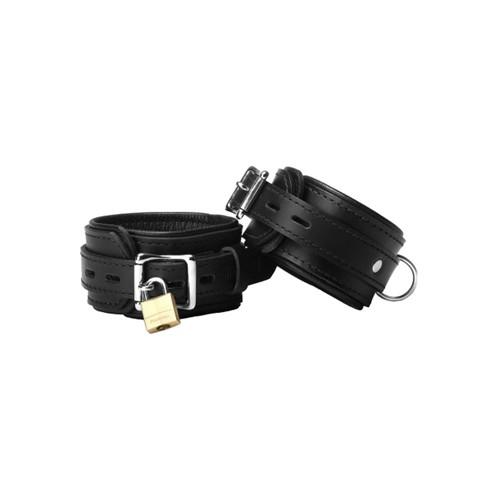 Abschließbare Premium Strict Leather Fesseln Handfesseln