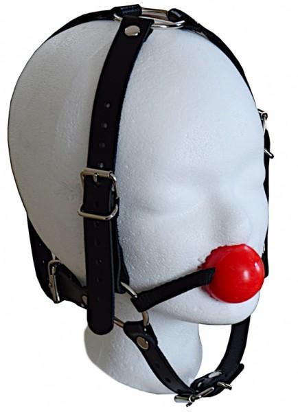 Kopfgeschirr Knebel-Harness Ballgag Silikon