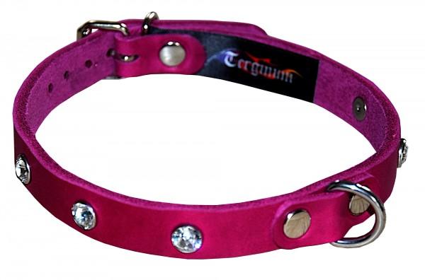 Exklusives zartes Halsband mit Swarovski Kristallen PINK