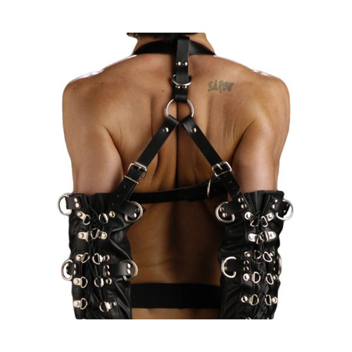 Strict Leather Bondage Zwangsjacke Armbinder