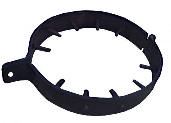 Handgeschmiedetes BDSM Stahlhalsband mit Spikes nach innen
