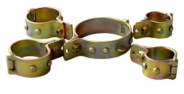 Stahlfesseln Stahlhalsband gold