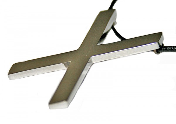 BDSM Anhänger Andreaskreuz X inkl. Lederband