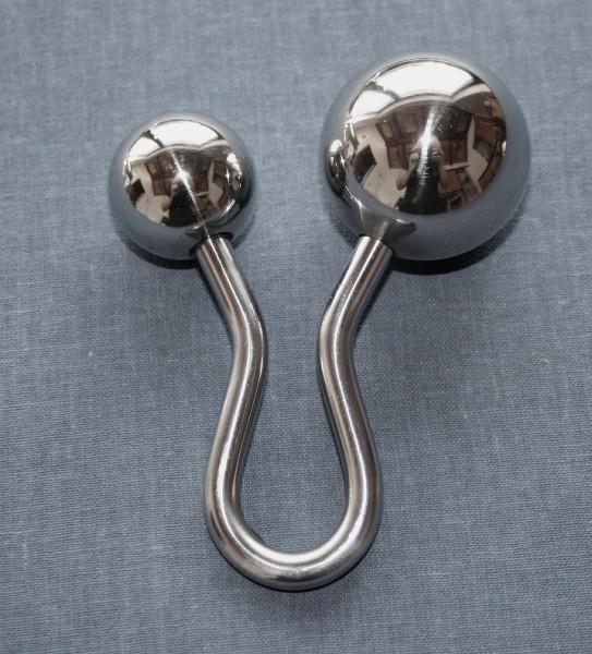 Handgefertigter Doppelplug aus Edelstahl