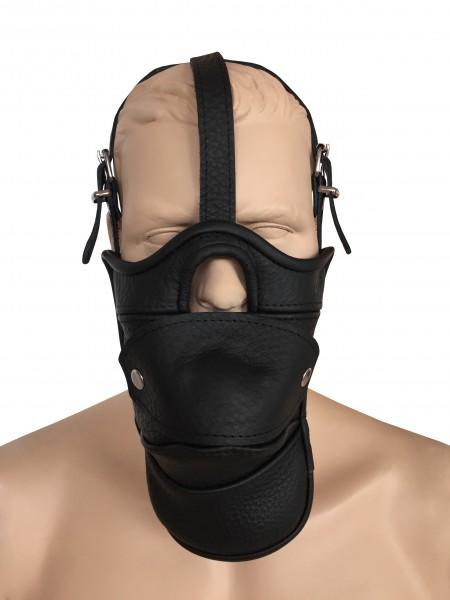 Ledermaske mit Öffnung und abnehmbaren Mundknebel