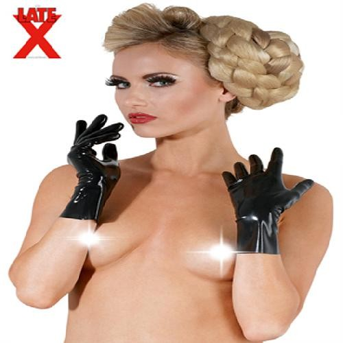 Kurze Latex-Handschuhe