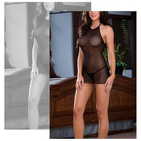 Heißes Minikleid Bodystocking Bodysuit Nylon