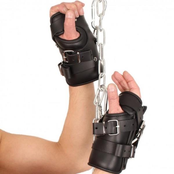Robuste Leder Hängefesseln Fesseln Handfesseln