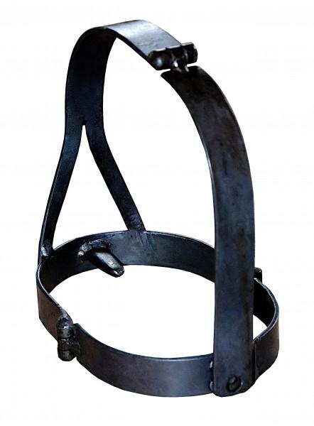 Handgeschmiedete Eisenmaske Kopfmaske Schandmaske Scold's Bridle - Maßanfertigung