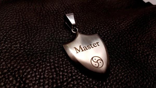 Exklusiver BDSM Anhänger Symbol Master + Peitschenrad inkl. Halskette
