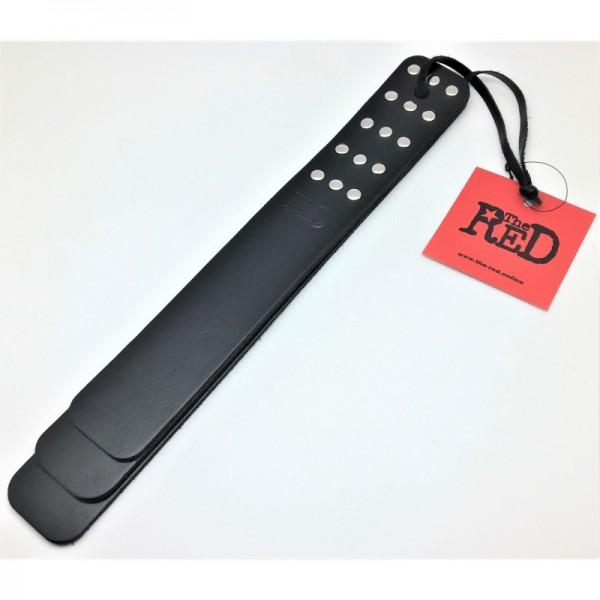 Paddle aus schwarzem Leder
