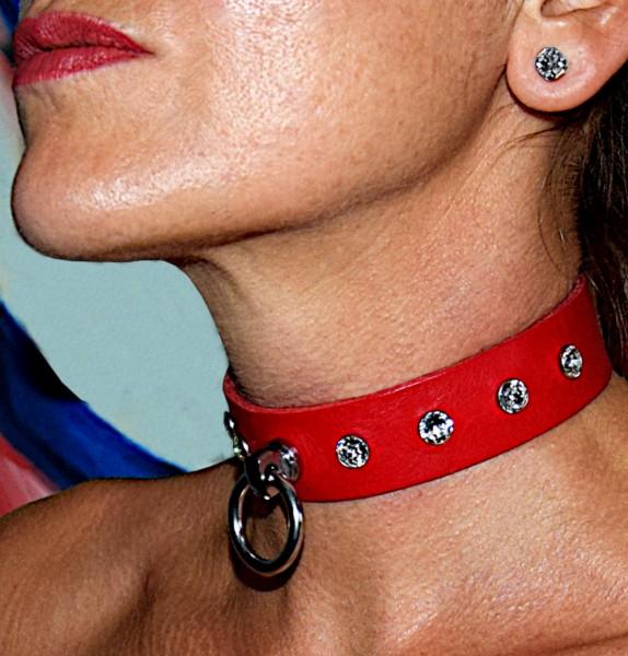 Edles PREMIUM Halsband der O mit SWAROVSKI Kristallen und Magnetverschluss - Maßanfertigung