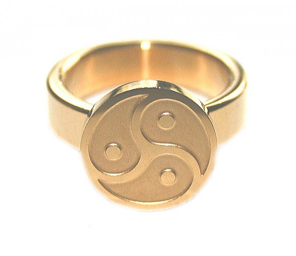 BDSM Ring der O Peitschenrad - gold
