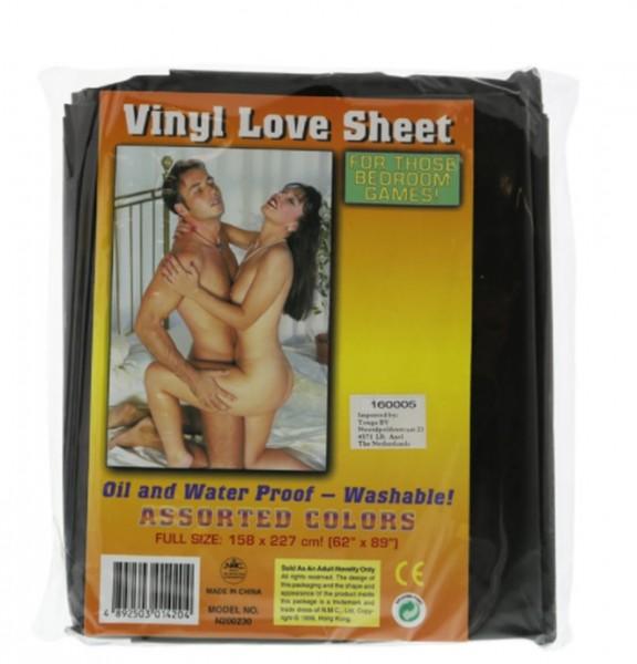 Vinyl Bettlaken PVC schwarz 158 x 227 cm